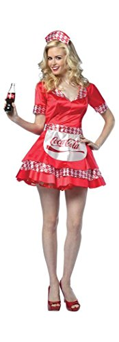 Costumes Cocacola Adult (Coca-Cola - Coke Tank Dress Adult)
