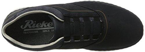 Rieker Men's 15875 Loafers, Blue, 7.5 UK Blue (Pazifik/Denim/Ozean / 15)