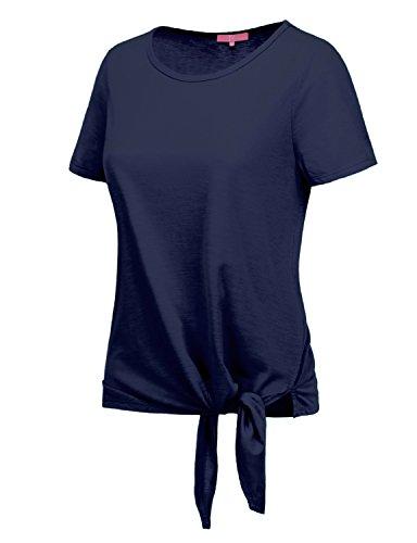 RENGA X NO BOTHER Women's Boat neck Short Sleeve Poplin Lightweight Soft - Women's Tri Tops Sale