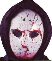 hockey mask dripping bloody bleeding halloween costume by click on party - Bloody Halloween Masks