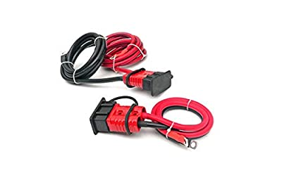 Rough Country 7 FT Quick Disconnect Winch Power Cable Fits Any Standard Size Winch RS107 Disconnect Winch Power Cable