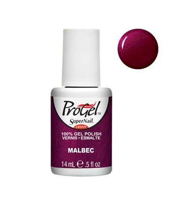 Supernail Gel Polish for Nails, Malbec Shimmer, 0.5 Fluid Ounce