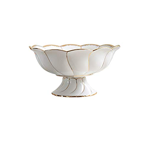 WANNA.ME Creative Bone China Gold Modern Fashion Fruit Bowl Fruit Bowl Ceramic Ornaments JSSFQK