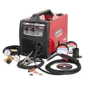 Lincoln Electric PRO-MIG 180 Welder 230-Volt MIG Flux-Cored Wire Feed Model K2481-1 (100 Lincoln Welder Pak Weld)