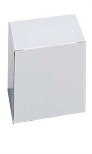 New 100 Box White Mug Figurines Gift Boxes 4'' x 4'' x 4'' & FREE enclosure cards
