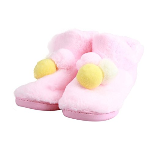 Womens Booties Slipper,Clode® Womens Cotton Indoor Home Floor Soft Flat Winter Slip On Anti-slip Spliced Fuzzy Pregnant Yoga Boots Shoes Mules Slippers Shoes Pink