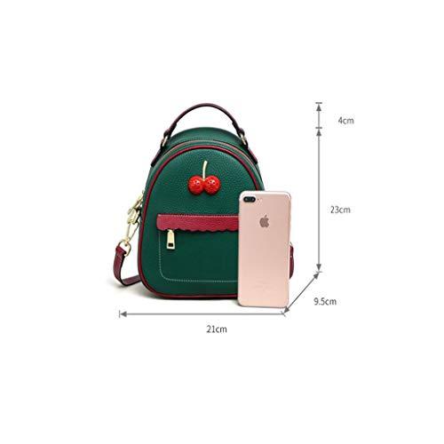 21x9 Beige dimensioni Fire pelle beige colore versione donna 5x23cm Piccola coreana Ins Zaino Super Wild Qxjpz Fashion in New qgRU0a