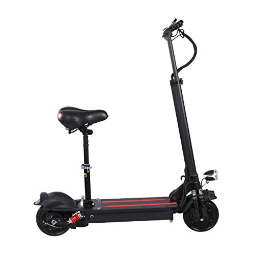 (XULONG Electric Scooters Adult Foldable, 200 kg Max Load with Seat 10 Inch 60km/H, Lithium Battery 48V 8AH, 1500W Dual Motor Drive with LED Light and HD Display,80kmrange)