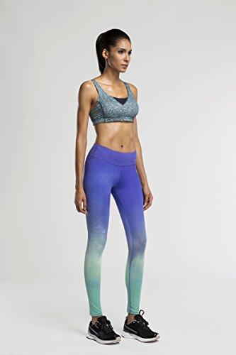 Fringoo - Medias deportivas - para mujer Rainbow Green