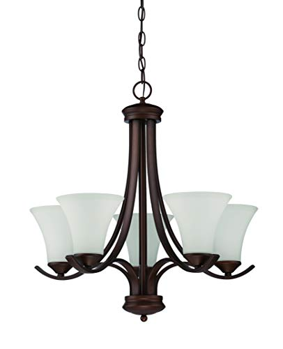 Craftmade 38225-OB Arabella Chandelier Lighting, Old Bronze 5-Light (24