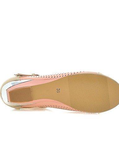 cn34 5 pink cn40 mujer Casual us8 Cuñas Tacón eu35 pink ZQ uk6 Blanco de Rosa Semicuero 5 Zapatos cn40 uk6 Mocasines uk3 us8 pink us5 5 5 eu39 eu39 Cuña Azul qH4ATn