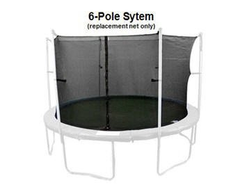 13' PREMIUM TRAMPOLINE REPLACEMENT NET FOR 6 POLES by TRAMPOLINE DEPOT