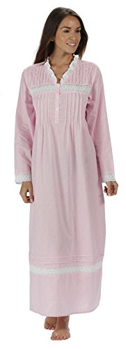 The 1 for U 100% Cotton Nightgown Vintage Design - Annabelle (XXL, Pink Butterfly)