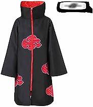 XCJLW Unisex Anime Long Robe Halloween Cosplay Costume Uniform Anime Cape with Headband