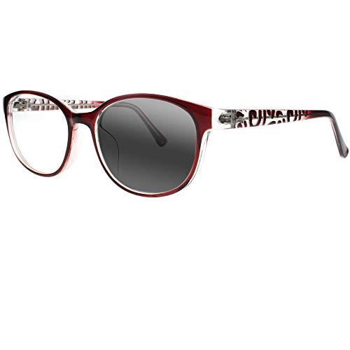 d1859234e13 Mens Womens Oval Frame Progressive Multifocal Transition Photochromic  Reading Glasses Sunglasses Multi Focus Readers