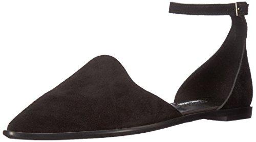 Nine West Women's Oriona Suede Flat Sandal, Black Suede, 10.5 Medium US from Nine West