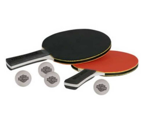 Harley-Davidson Table Tennis Paddle Set (2 Paddles & 4 Balls)