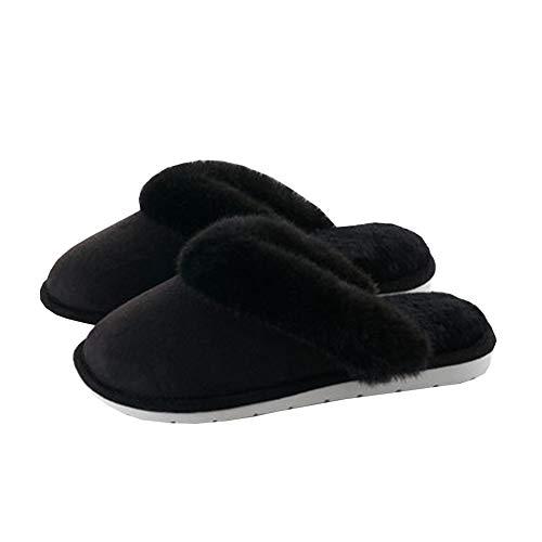 Chaud Chaussons Coton SFHK Black Au Chaussures Maison Doux Respirant Femmes Antidérapant Intérieur Garder Hiver FYBvBEgT