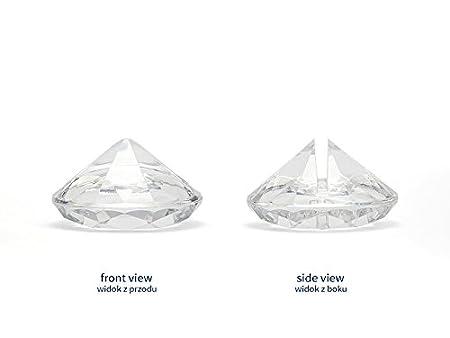 Tischkartenhalter Diamant aus Acryl Taufe Jubil/äum verschiedene Farben gold-gelb 10 St/ück f/ür Hochzeit