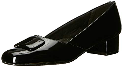 Trotters Women's Delse Pump, Black Patent, 9.0 M US from Trotters