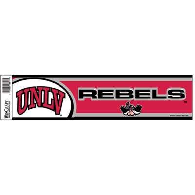 Official NCAA 12 inch x 3 inch Bumper Sticker by Wincraft (Unlv Runnin Rebels Car)