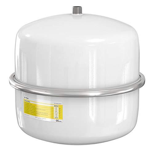 Flamco 16063 Flexcon Solaire Vase d'Expansion, 25 L, 2,5 Bar pour Installations Solaires, Blanc