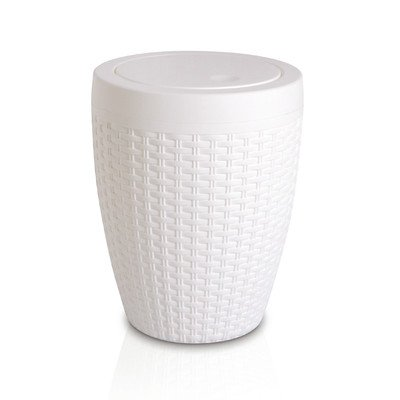 1.63-Gal Round Trash Can Color White by Superior Performance