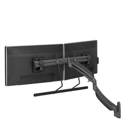 Chief K1 Wall Mount Dual Display Stand 2l Arm H-Array,BlacK Mnt Dual Wall