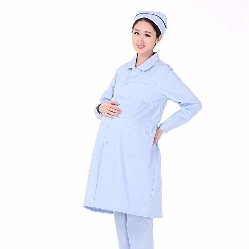 Xuanku Tamaño Grande Médico Enfermera Invierno Manga Larga Chaquetas Blancas, Monos De Cuidados Médicos Uniformes: Amazon.es: Ropa y accesorios