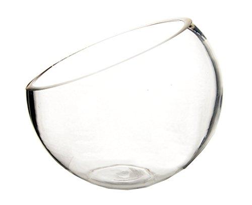 Half Cut Slant Bowl Vase. H-7