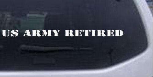 海外ブランド  US Army RetiredテキストMilitary車やトラックウィンドウノートパソコンデカールステッカー Army – -ホワイトで12 x 0.7 -ホワイトで12 x in B00J8QH5IW, ビジョンメガネ:6d85819e --- a0267596.xsph.ru