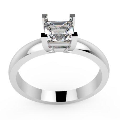 MINA Bagues Or Blanc 18 carats Saphir Blanc 0,6 Princesse