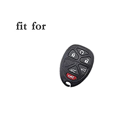 SEGADEN Silicone Cover Protector Case Skin Jacket fit for CHEVROLET GMC SATURN 6 Button Remote Key Fob CV4608 White: Automotive