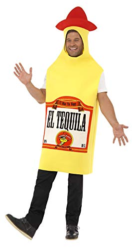 Smiffys Tequila Bottle Adult Costume Yellow/Red -