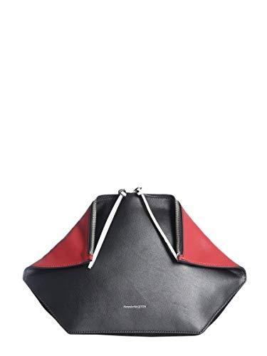 Alexander Mcqueen Women's 5541351Buai1050 Black Leather Clutch