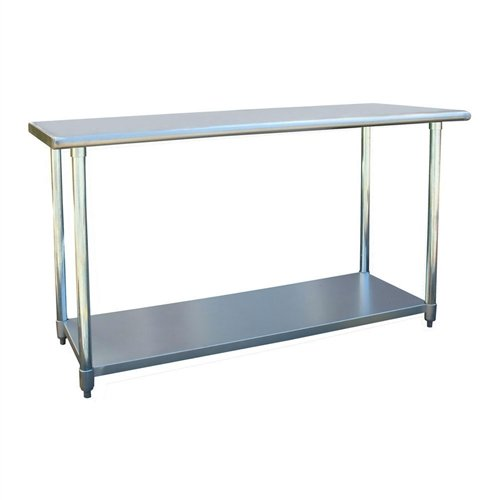 l Work Bench Utility Table with Rounded Edges Table Kitchen Stainless Steel Restaurant Work X 24 Prep Commercial 30 Svitlife ()