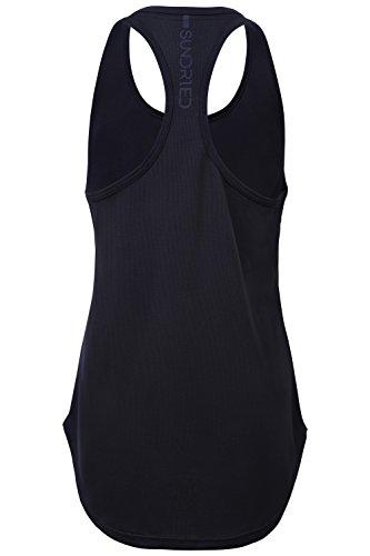 Sundried Sport delle Donne Vest Yoga Wear Maniche a Spalle Scoperte Formazione e Palestra Canotta
