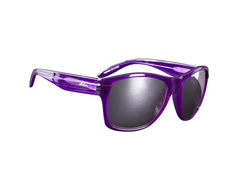 Dizm Eco Eyewear Dempsey Smoke Mirror Sunglass, Purple, One - Sunglasses Dizm