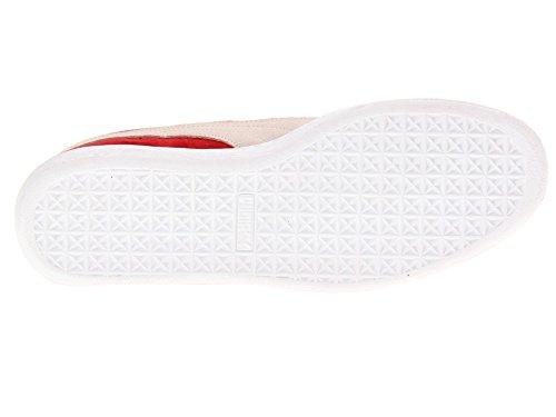 Puma High Classic Schuhe Risk Red Herren Suede White LFS 7p7H4q