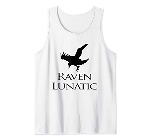 Raven Lunatic Bird Funny Raven Lovers Women Men Tank -