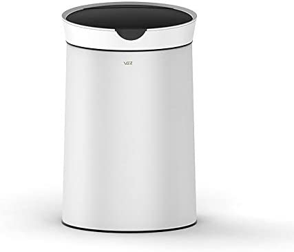 自動ゴミ箱は、屋外の屋内オフィスキッチン用の蓋付き消費者および商業用の大きな丸いゴミ箱を備えた誘導ゴミ箱の開閉ボックスダストボックス大容量ファッションを作ることができます黒10L