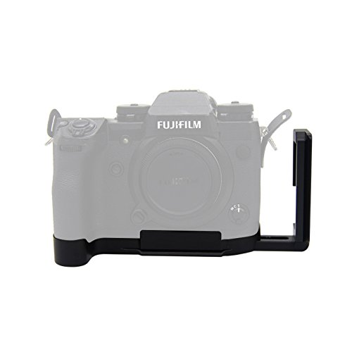 FOTOMIX LB-XH1 for Fujifilm X-H1 Camera L-Plate Bracket Quick Release Hand Grip Black Metal CNC, Stranchable Design Custom Brackets Quick Release Tripod