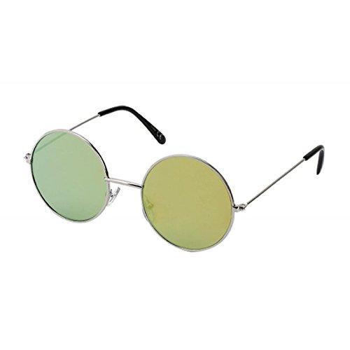 Chic-Net Gafas de sol redondas John Lennon plata del estilo ...