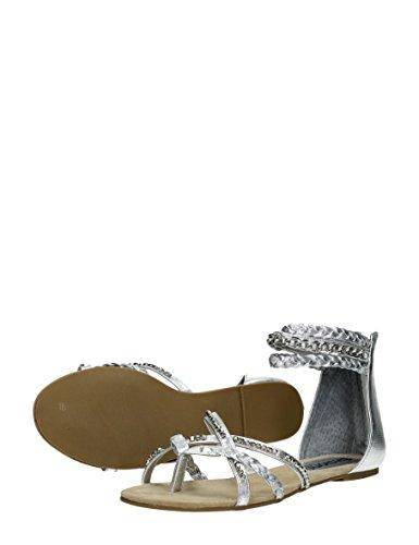 Visions - Sandalias de vestir de Material Sintético para mujer Dorado * target_attribute_value plata