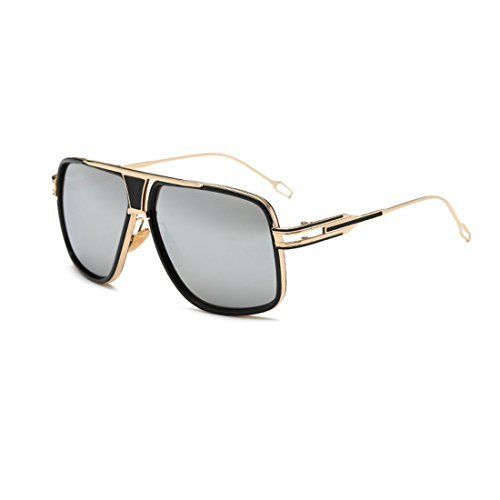 LIKEOY Fashion Classic Aviator Sunglasses For Men,Gold Metal Frame with REVO Lens - Glassses Nerd