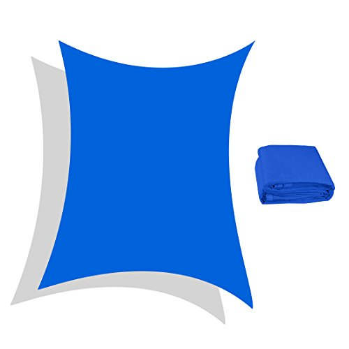 Peaktop 98% UV Block 13x10 Ft Rectangle Sun Shade Sail Canopy With Free Carry Bag Blue (Sunbrella Costco)