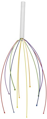 DCI Rainbow Scalp and Head Massager, Stress Relief, Hand Held, Assorted Colors