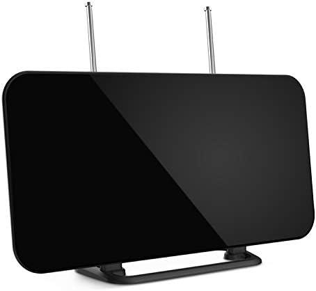 Antena TV, Antena Digital Interior HDTV con Rango de Recepción 128 KM, 3 Metros de Cables Alto Rendimiento, Amplificador de Señal Más Canales de TV ...