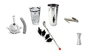 Stainless Steel Coctail Shaker Set Bartender Kitchen Tool Kit