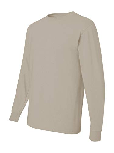 Jerzees Men's Heavyweight Blend 50/50 Long Sleeve T-Shirt (Sandstone, -